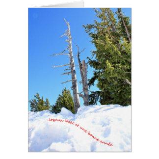 Une scène d'hiver pour Noël 2 Français Card