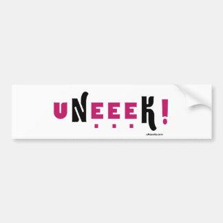 uNeeeK (Original, unique, extraordinaary) Bumper Sticker