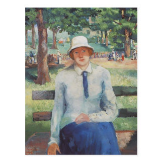 Unemployed Girl by Kazimir Malevich Postcard
