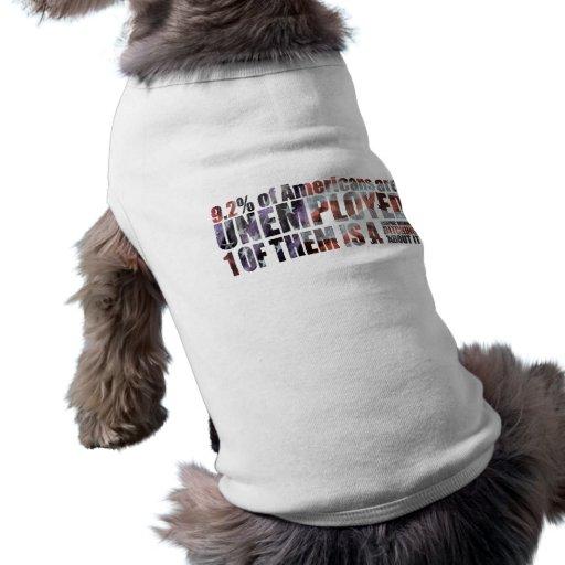 unemployed graphic designer dog t shirt