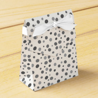 Uneven,colourful, fun , cool polka dots favour box