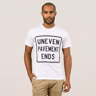 Uneven Pavement Ends Mens T-Shirt