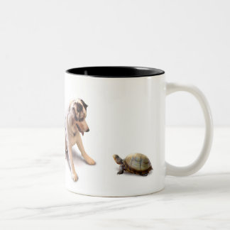 Unexpected Turtle Love Two-Tone Coffee Mug