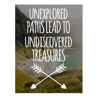 Unexplored Paths Postcard