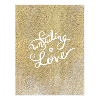 Unfailing Love Post Card - Calligraphy / Gold