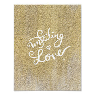 Unfailing Love Poster - Calligraphy / Gold