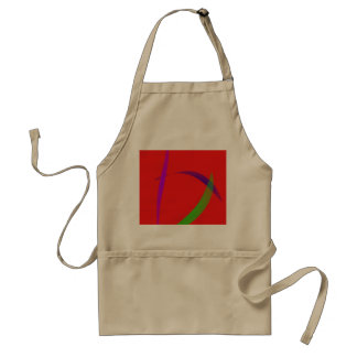 Unfettered Scarlet Abstract Art Aprons