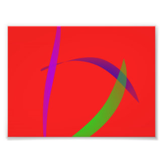 Unfettered Scarlet Abstract Art Photo Art