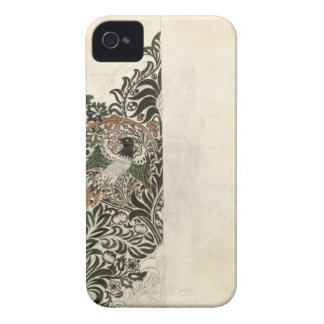 Unfinished 'Bird and Vine' wood block design for w iPhone 4 Covers