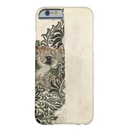 Unfinished 'Bird and Vine' wood block design for w iPhone 6 Case