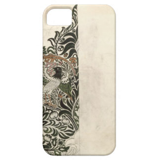 Unfinished 'Bird and Vine' wood block design for w iPhone 5 Case