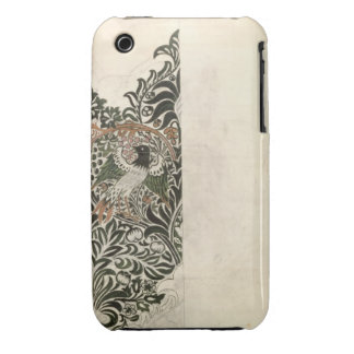 Unfinished 'Bird and Vine' wood block design for w iPhone 3 Case