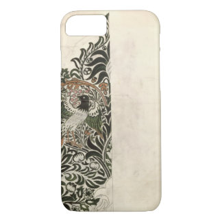 Unfinished 'Bird and Vine' wood block design for w iPhone 7 Case