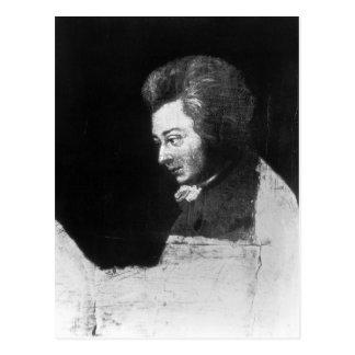 Unfinished Portrait of Wolfgang Amadeus Mozart Postcard