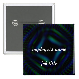 Unfocused Employee Name Tag Button