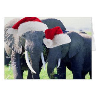 Unforgettable Elephant Christmas Card
