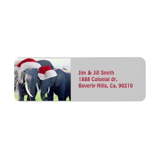Unforgettable Elephant Christmas Return Address Label