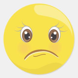 Unhappy/Sad Yellow Emoji Face Stickers