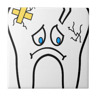 Unhealthy Tooth Ceramic Tile