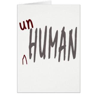 unhuman card