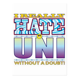 Uni Hate Face Postcard