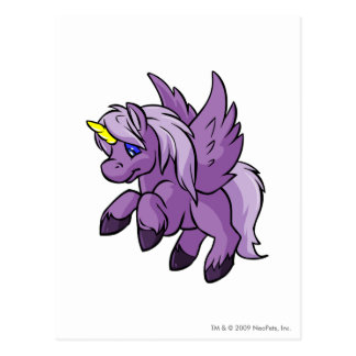 Uni Purple Postcard