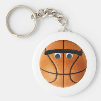 Unibrow Basketball Basic Round Button Key Ring