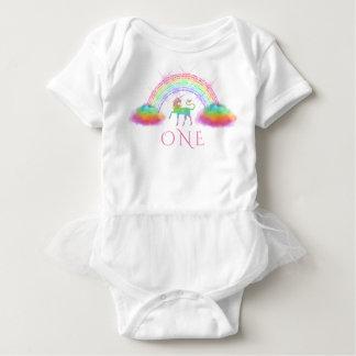 Unicorn 1st Birthday Rainbow Baby Bodysuit