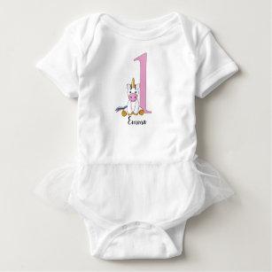 Unicorn 1st Birthday Tutu Bodysuit