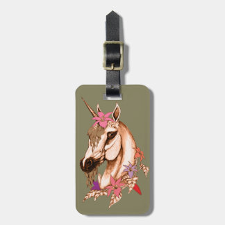 Unicorn 3 luggage tag