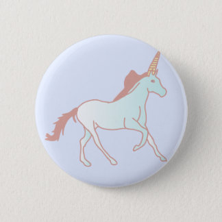 unicorn 6 cm round badge