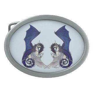 Unicorn and Dragon Belt Buckle