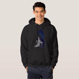 Unicorn and Dragon Black Hoodie