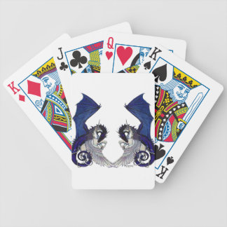 Unicorn and Dragon Wedding Lovers Bicycle Playing Cards