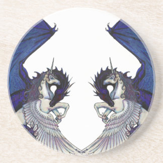 Unicorn and Dragon Wedding Lovers Coaster