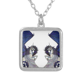 Unicorn and Dragon Wedding Lovers Silver Plated Necklace
