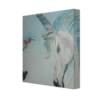 Unicorn and friends canvas print