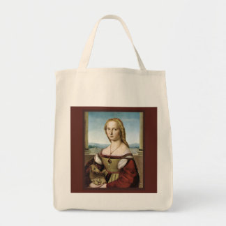 Unicorn and Lady Grocery Bag by Raphael