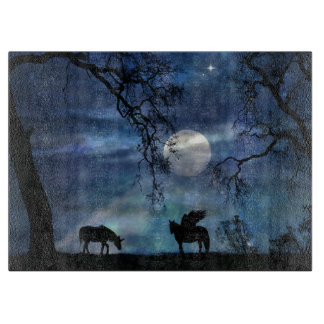 Unicorn and Pegasus Cutting Board