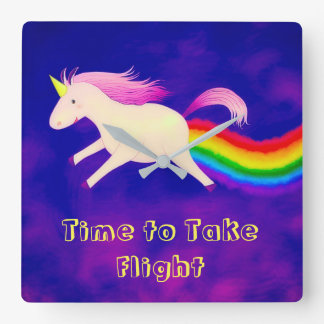 Unicorn and Rainbow Colorful Wall Clock Home Decor