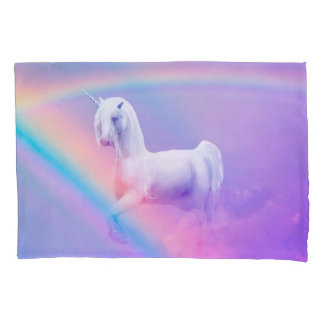 Unicorn and Rainbow Pillowcase