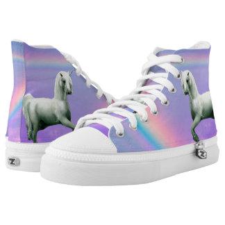 Unicorn and Rainbow Printed Shoes