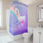 Unicorn and Rainbow Shower Curtain