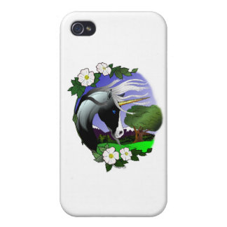 Unicorn and Roses III ©2011 iPhone 4 Cover