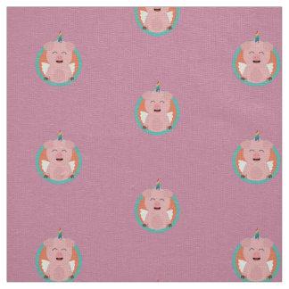 Unicorn Angel Pig in circle Zbibi Fabric