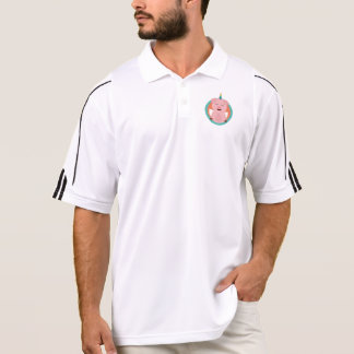 Unicorn Angel Pig in circle Zbibi Polo Shirt