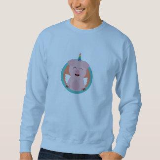 Unicorn Angel Pig in circle Zbibi Sweatshirt