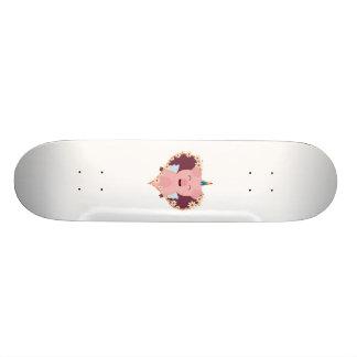 Unicorn angel pig in flower heart Zzvrv 20 Cm Skateboard Deck