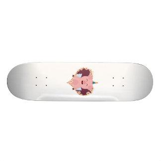 Unicorn angel pig in flower heart Zzvrv 21.6 Cm Skateboard Deck