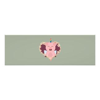 Unicorn angel pig in flower heart Zzvrv Photo Art
